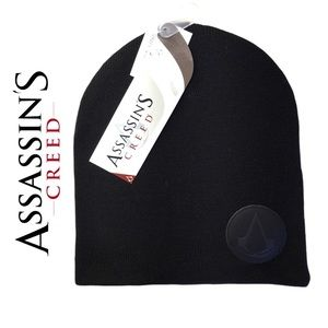 Assassins Creed Logo Toque Black One Size Fits All Gamer Winter Gear Hat Beanie